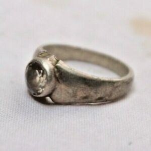 WOMAN / LADY RING WITH HAND CRAFTED SILVER WITH CORAL GEMSTONE ATTACH G 255