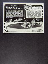 1958 Penn Yan Swift Boat vintage print Ad