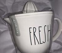 "RAE DUNN FARMHOUSE LL ""FRESH"" JUICER Freshly Squeezed Fruits ~ Lovely Too~ New!!"