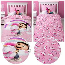 DESPICABLE ME DAYDREAM FLUFFY UNICORN SINGLE DUVET COVER SET POLYCOTTON NEW