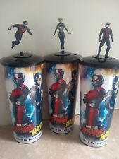 Ant-Man and the Wasp Movie Theater Exclusive Cups and Toppers - Set of 3