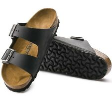 Birkenstock Arizona Soft Footbed Blk Leather Slide Sandals Size 36 / 6 N