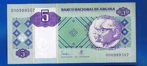 PORTUGAL ANGOLA  BANKNOTEN  5 Kwanzas 10-1999 Jose Eduardo Santos PIC#144 UNC