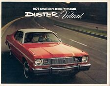 PLYMOUTH VALIANT & Duster 1976 USA MARKET sales brochure SCAMP Custom Brougham