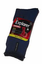 3 PAIRS MENS SZ 11-14 MIXED HOLEPROOF EXPLORER WOOL WORK SOCKS