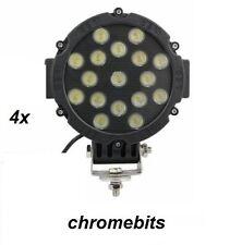 "4pcs 12V 24V 51W 7"" LED Work Light Spot Beam Lamp 4WD Jeep SUV ATV Truck 4x4"