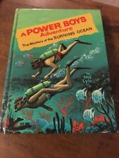 A Power Boys Adventure~The Mystery of the Burning Ocean~ Whitman~1965 HC Vintage
