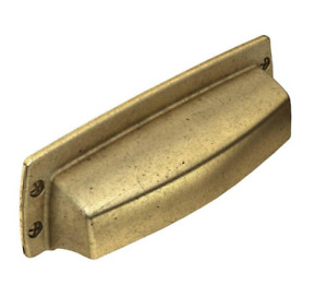 Liberty Hardware P35342C-474 3 in. (76mm) Soft Industrial Cup Pull Bedford Brass