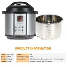 15-in-1 Programmable Pressure Instant Cooker Slow Cook Pot 6-Quart 1000-Watt TZ