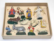 alte Krippenfiguren Massefiguren Gips?  ca. 7cm groß