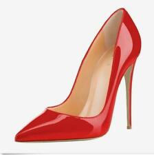 Womens Patent Leather High Heel Point Toe Shoes Classic Stiletto Pumps Clubwear