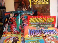 MALIBU COMICS RARE POSTER BUNDLE (6 items 1990's) FREE SHIP/GIFT