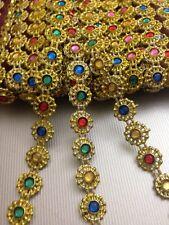 Multi Gold Diamante Bling Sparkling Diamond Effect Wedding CakeCraft Trim Ribbon