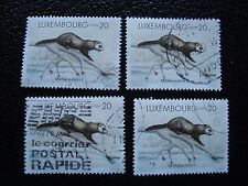 LUXEMBOURG - timbre yvert et tellier n° 1351 x4 obl (A30) stamp