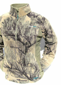 Cabela's OutfitHER Fleece 1/4 Zip Pullover Open Country Women's Hunting Jacket