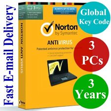 Norton Antivirus 3 PCs / 3 Years (Unique Global Key Code) 2018