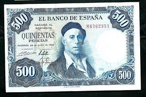 Spain (P148) 500 Pesetas 1954 aVF