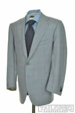 CESARE ATTOLINI Blue Plaid Check Houndstooth WOOL Jacket Pants SUIT - 40 R