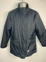 BOYS HELLY HANSEN NAVY BLUE CASUAL WINTER PADDED RAINCOAT JACKET KIDS AGE 14 YRS