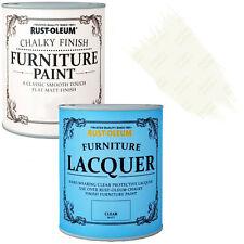Rust-Oleum Crayeux Meuble Peinture Usé Chic 750ml Blanc Vieilli 125ml Laque