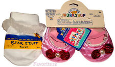 Build a Bear Pink Shoes White Tutu Socks Fits Lalaloopsy Jewel Sparkles Doll etc
