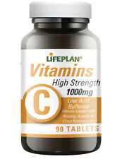 Lifeplan High Strength Low Acid Buffered Vitamin C 1000mg 90 Tablets