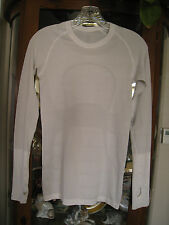 "Women's Lululemon Run: ""Swiftly Tech"" Long Sleeve White Crew Top Size 4"