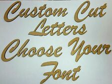 Custom MDF Joined Letters Words 10cm Tall 3mm Thick Wood Cut Out Wooden Name