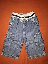 Janie And Jack Ribbed waist Denim Cargo Jeans Baby Boy 3-6m