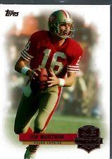 "2012 Topps ""Quarterback Legends"" Joe Montana San Francisco 49ers"