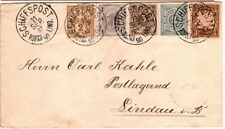 1897 Cover Bavaria Germany to Lindau Schiffspost with Stamps from other Country