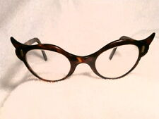 FRENCH FAUX TORTOISE 1950's HAND MADE EYEGLASSES GREAT CONDITION! (NOT PLASTIC!)