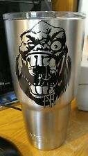 Yeti Face Rambler Tumbler Decal 20oz or 30oz Stainless Steel Tumbler Sticker 4x3