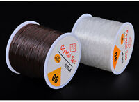 0.6/0.8/1mm Stretch Elastic Transparent Line Cords Beading Rope String Jewelry