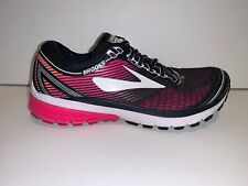 BROOKS GHOST 10 Women's Shoes Size 9 B Pink Black Running Sneakers Gym Workout