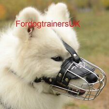 Samoyed Dog Wire Muzzle for Daily Use | New Wire Basket Dog Muzzle for Husky