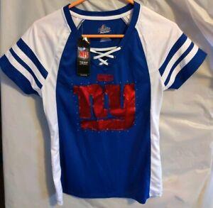 NY Giants Women's Short Sleeve Majestic Fan Fashion