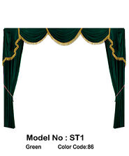 Saaria ST1 Velvet Screen Home Decor Curtains Event Stage Drapes Backdrop 8'Wx8'H