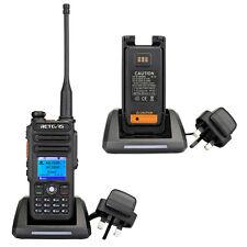 Retevis RT82 UHF+VHF DMR Walkie Talkie,3000CH,IP67 Waterproof,2200mAh Battery
