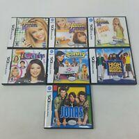 Nintendo DS Nickelodeon Disney Games Lot of 7 - Hannah Montana, Jonas, iCarly