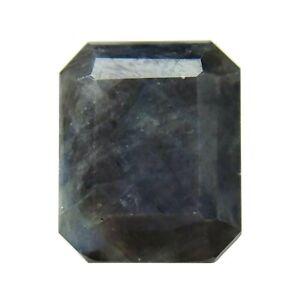 Kenyan Silver Sapphire Genuine Loose Gemstone Octagon 6.14 ct.