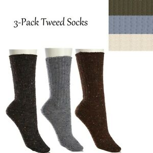 Hue Tweed Boot Socks 3-Pack 391457A-J (One Size) $19.90