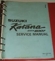 SUZUKI GSX600F GSX600 GSX 600 KATANA Service Manual & Parts Guide 1988-1992
