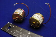 2 NEW CANON HIGH SPEED - HIGH POWER LOW VOLTAGE DC SERVO MOTORS FOR HOBBY, MORE!