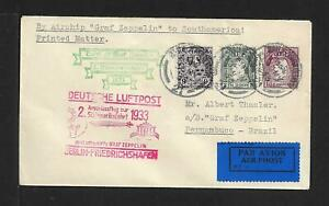 ZEPPELIN IRELAND TO BRAZIL 12 1/2rate DOUBLE CDS COVER 1932