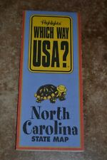 "Highlights Which Way Usa? North Carolina State Map ""Vgc"""