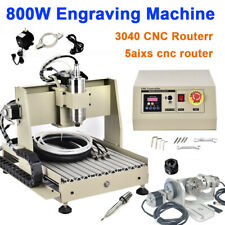 34axis Cnc 3040t Diy Router Engraver Metal Milling Woodworking Machine 400800w