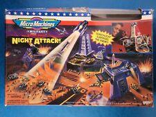 1995 GALOOB MICRO MACHINES-ATTACCO NOTTURNO! BATTAGLIA MILITARE zone giocattolo incompleto