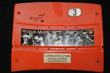 Willie Mays Autographed Signed Giants Candlestick Seatback Used Say Hey COA