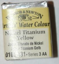 Winsor & Newton Half Pan Watercolor-Nickle Titanium Yellow Series 3Aa